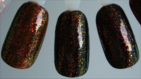 KleanColor Chunky Holo Nail Polish Layered Over Black