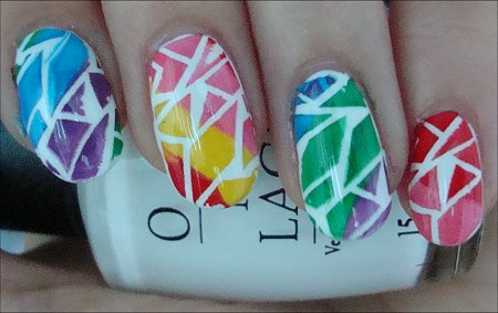 Konad Bundle Monster Rainbow Crackle Nail Art