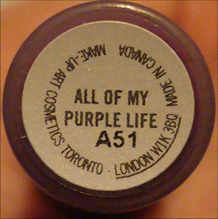 MAC All of My Purple Life Lipglass Review & Swatch