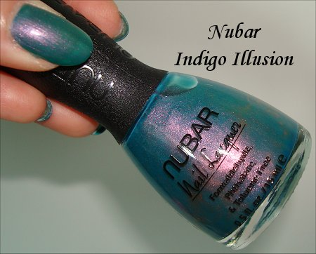 Nubar Indigo Illusion Nail Polish Review & Swatches