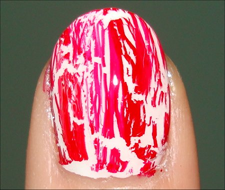 OPI Red Shatter Swatch & OPI White Shatter Swatch