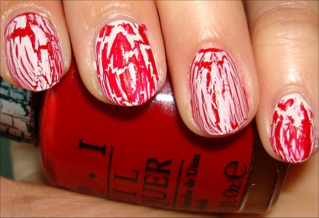 OPI Red Shatter Swatches & OPI White Shatter Swatches