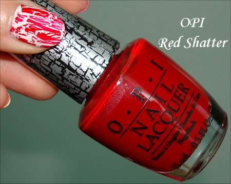 OPI Red Shatter Swatches & Review