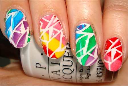 Rainbow Crackle Konadicure Nail Art Tutorial