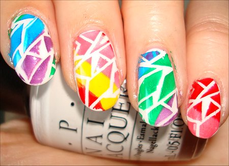 Rainbow Crackle Manicure Swatches & Tutorial