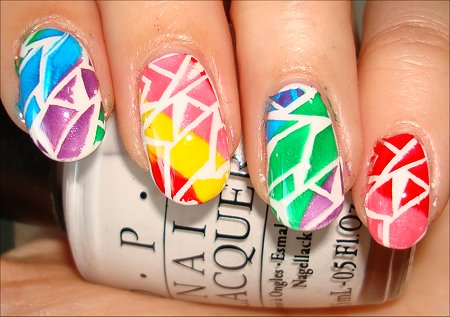 Rainbow Crackle Nail Art Swatches & Tutorial