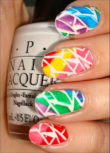 Rainbow Crackle Nail Art Tutorial