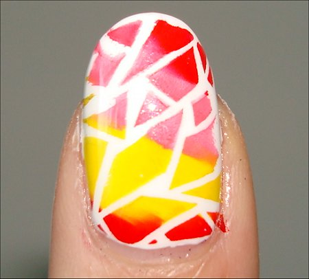 Rainbow Crackle Nail Art Using Bundle Monster Image Plates & Konad Special Polish