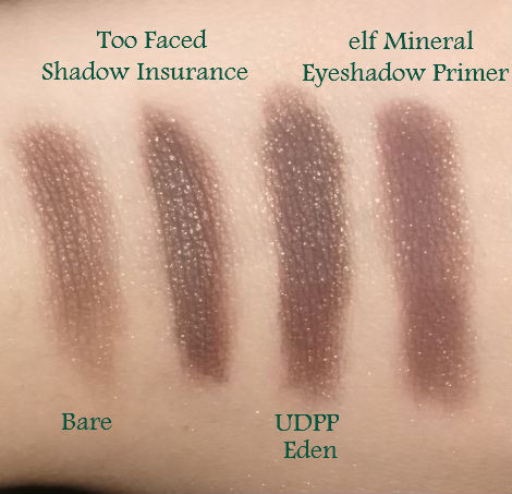 Swatches of e.l.f. Wild Mineral Eyeshadow