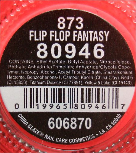 China Glaze Flip Flop Fantasy Ingredients