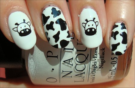 Cow Nail Art Swatch