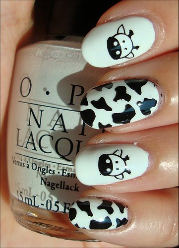 Cow Nails Nail Art Swatches