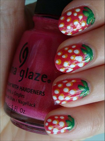 Easy Strawberry Nail Tutorial