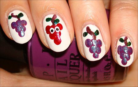 Grape Nail Art Pupils The Grapes of Wrath Manicure