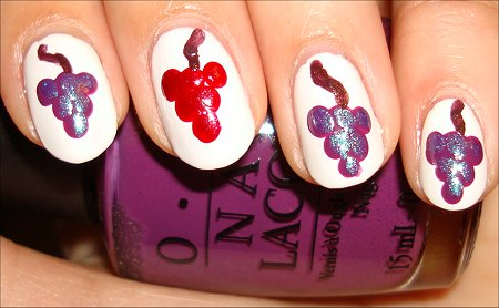 Grape Nail Tutorial & Pictures Vines