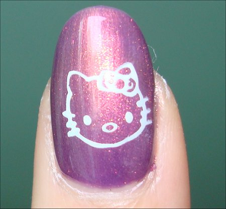 Hello Kitty Nail Art Swatch