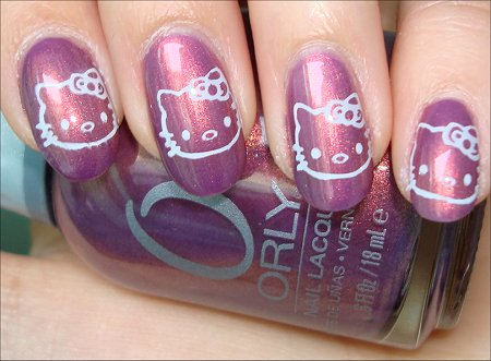 Hello Kitty Nail Art Swatches
