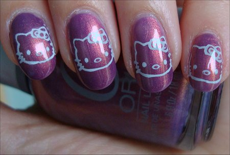 Hello Kitty Nail Stamping Nail Art Swatches