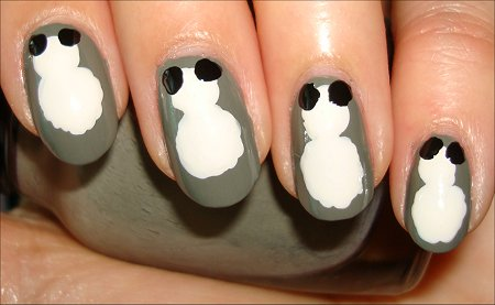 How-to Nail Art Tutorial Panda Nails