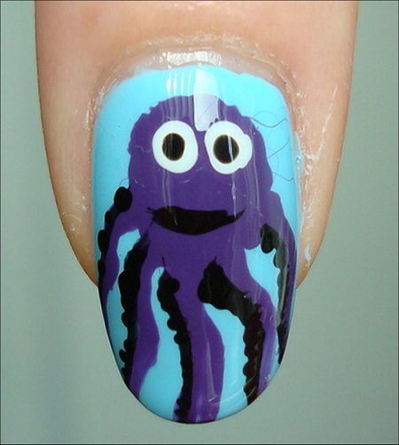 How to Octopus Nail Art Tutorial & Pictures