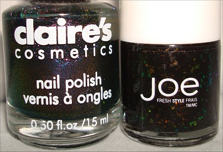 Joe Fresh Twilight & Claires Venomous Nail Polish