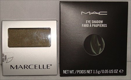 MAC Carbon Eye Shadow & Marcelle Amazone Eye Shadow