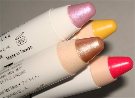 nyx jumbo eye pencils swatches review yogurt oyster hot pink yellow swatch and learn