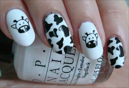 Nail Art Cow Nail Swatches