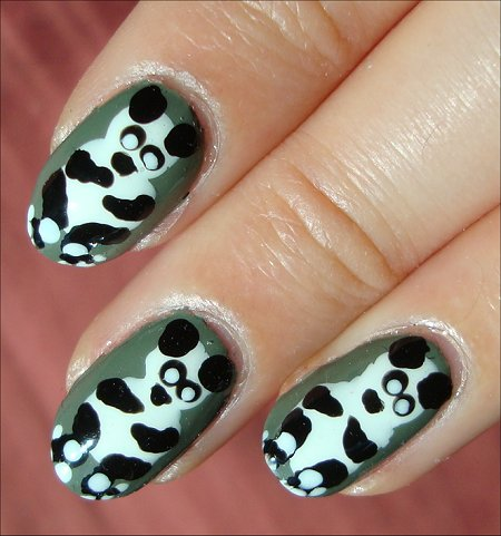 Nail Art Tutorial Panda Bears