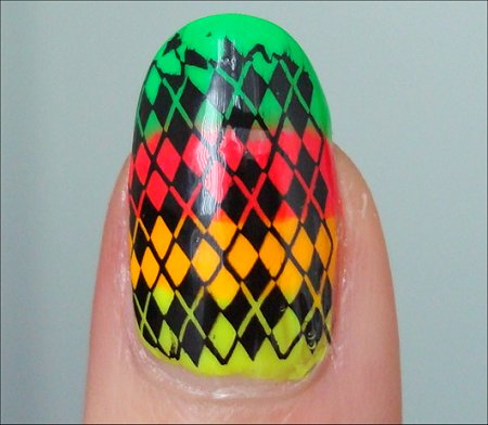 Neon Argyle Konadicure Swatch Tutorial