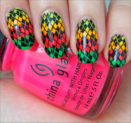 Neon Argyle Konadicure Swatches Tutorial