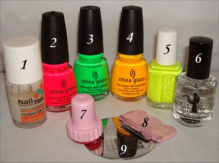 Neon Argyle Nail Art Swatches Konadicure Tutorial