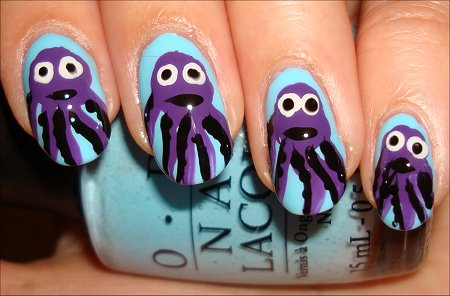 Octopus Nail Art Nail Tutorial & Swatches