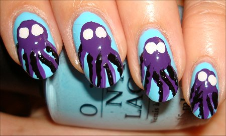 Octopus Nail Art Tutorial Step 6
