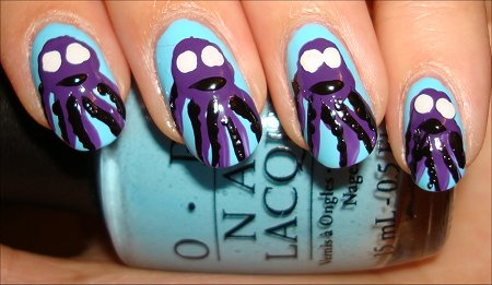 Octopus Nail Art Tutorial Step 7