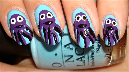Octopus Nail Art Tutorial Step 8