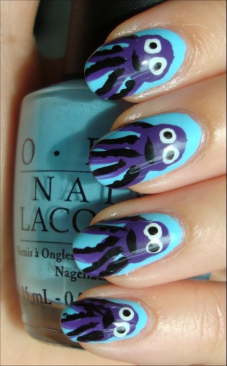Octopus Nail Art Tutorial & Swatches