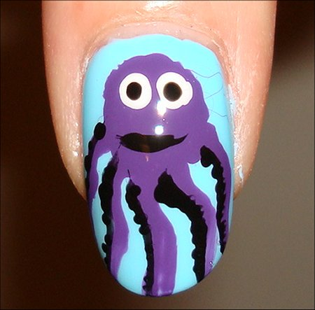 Octopus Nail Tutorial Nail Art Pictures