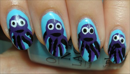 Octopus Nails Nail Art Tutorial & Pictures