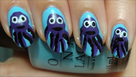 Octopus Nails Tutorial & Swatches
