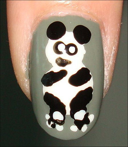 Nail Art Tutorial Panda Nails Swatch And Learn