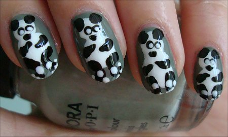 Panda Bear Nails Nail Art Tutorial