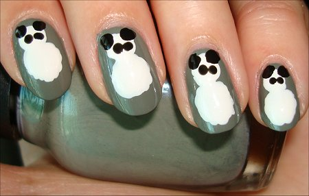 Panda Nail Art Step by Step Tutorial