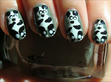 Panda Nail Art & Tutorial
