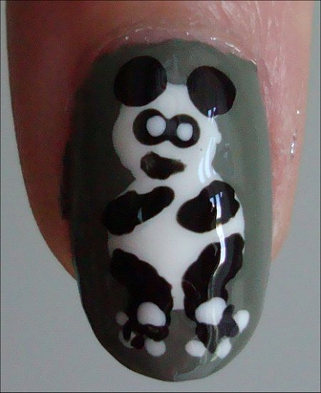 Panda Nail Tutorial Nail Art