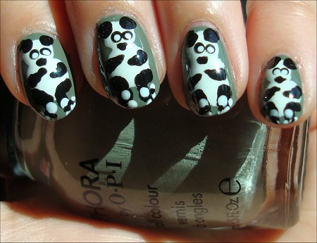 Panda Nail Tutorial & Swatches