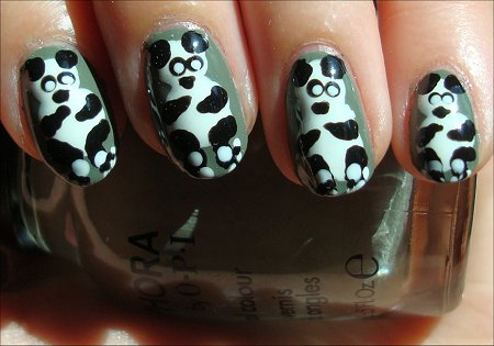 Panda Nails Nail Art Tutorial