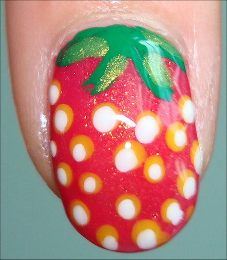 Pink Strawberry Nail Art Tutorial