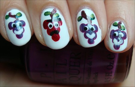 Purple Grapes Manicure Tutorial & Swatch