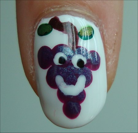 Sour Grapes Nail Art